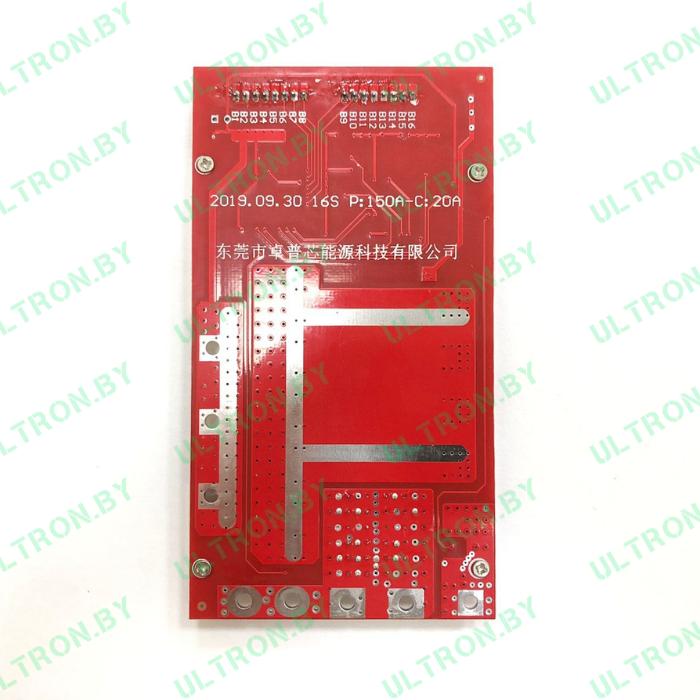 Ultron BMS-плата 60V для АКБ 16S (P: 150A — C: 20A)
